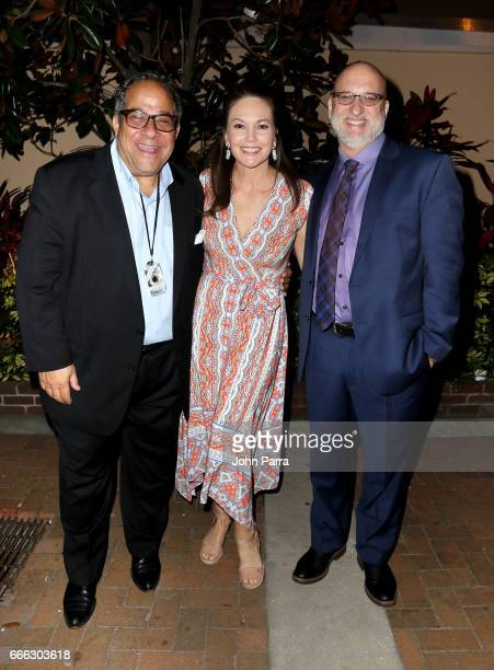 Sarasota film festival president and chairman Mark Famiglio actress Diane Lane and Joe Neumaier attend to the closing night ceremony and screening of...