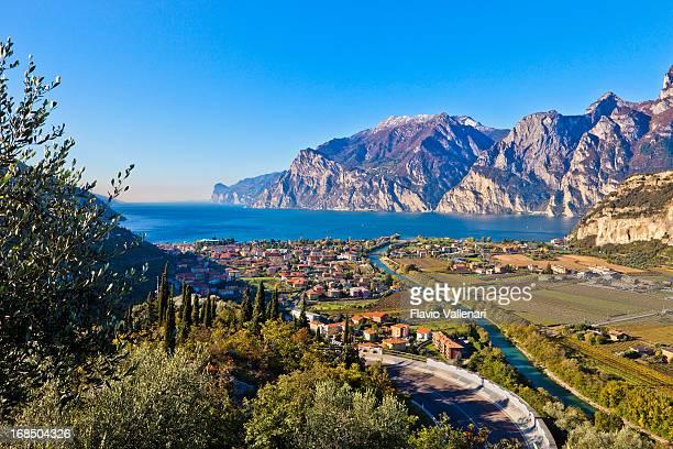 Sarca fiume e il Lago di Garda