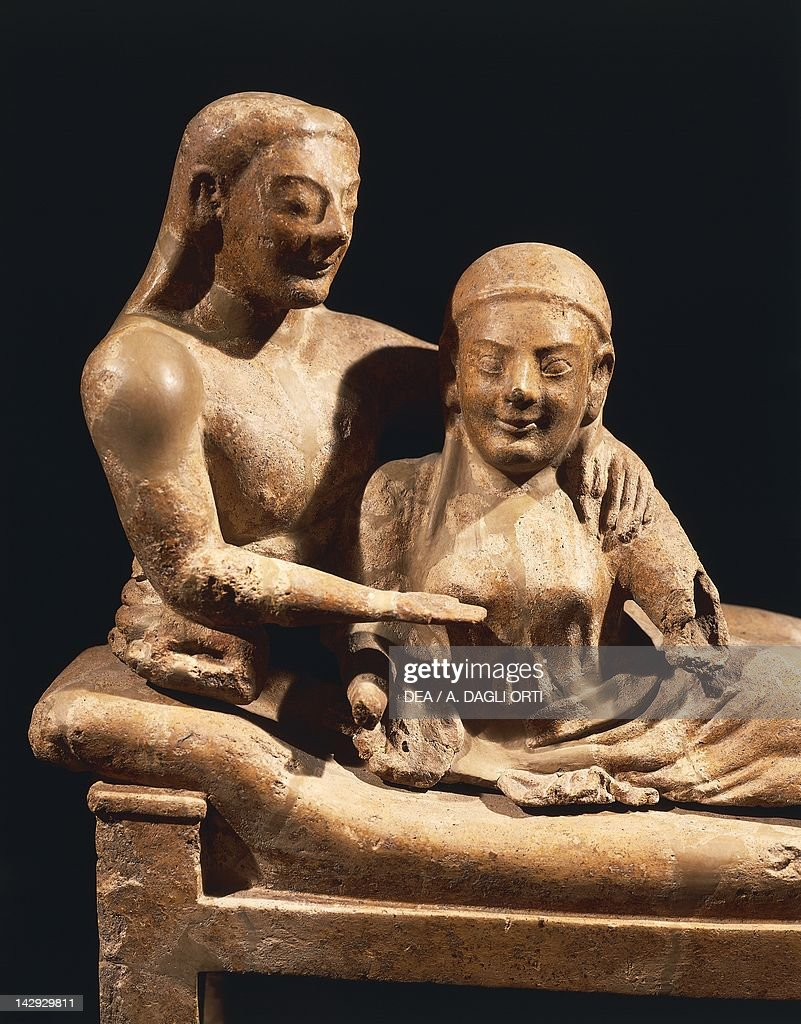 Sarcophagus of the Spouses Painted terracotta artifact from Cerveteri Banditaccia Necropolis Etruscan Civilization 520 BC Detail & Etruscan Sarcophagus Stock Photos and Pictures | Getty Images islam-shia.org