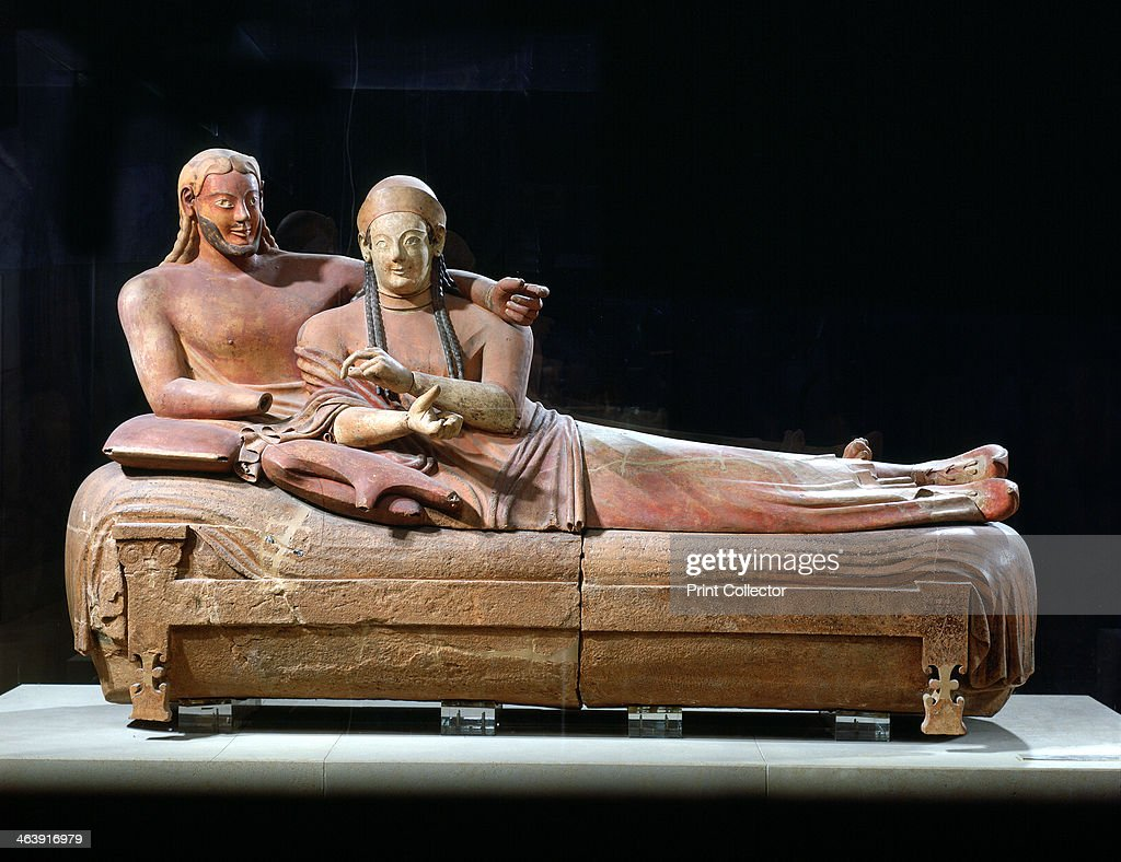 Sarcophagus with reclining couple 6th century BC. From the Etruscan tombs at Ceveteri & Sarcophagus with reclining couple 6th century BC. Artist: Anon ... islam-shia.org