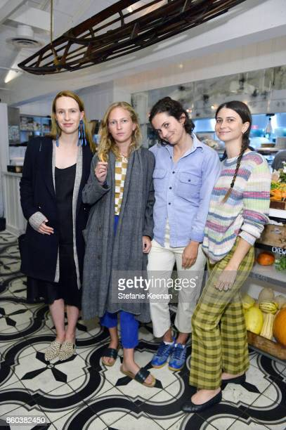 Saree Kayne Rory McCauliffe Rose Schlossberg and Lily Waranker attend Jenni Kayne Home Collection Launch at Malibu Farm on October 11 2017 in Malibu...