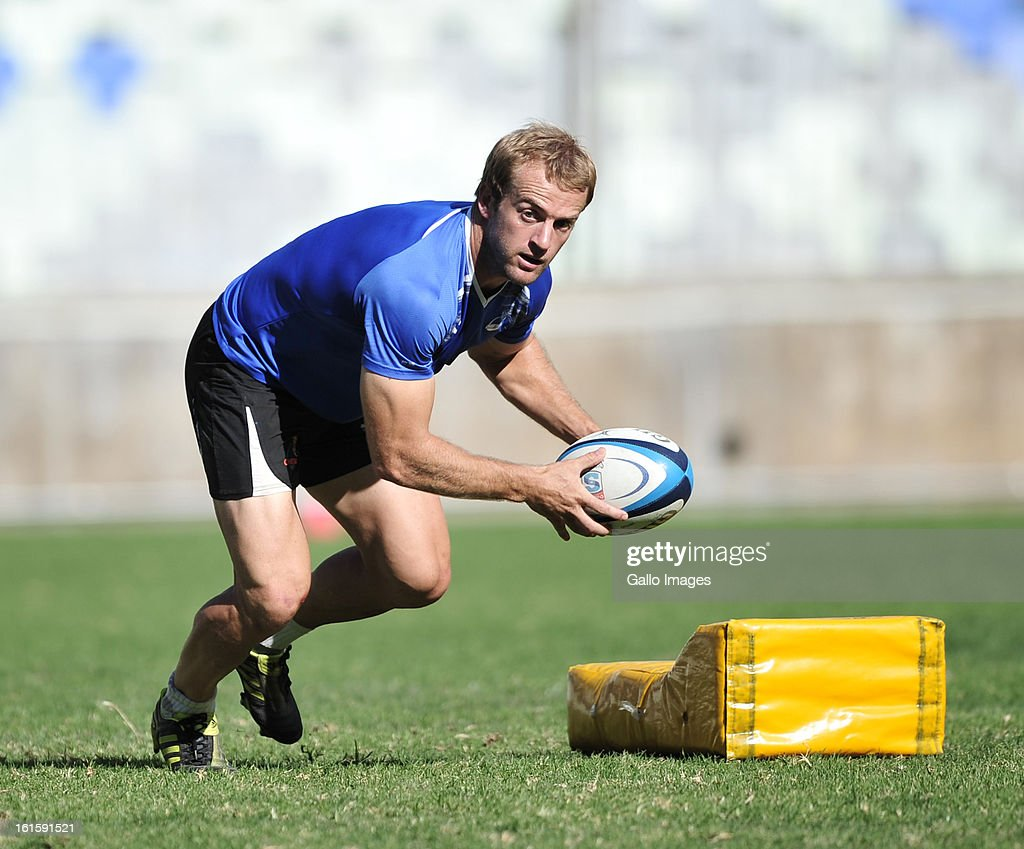 Sarel Pretorius during the Toyota Cheetahs training session at Free State Stadium on February 12, 2013 in Bloemfontein, South Africa.