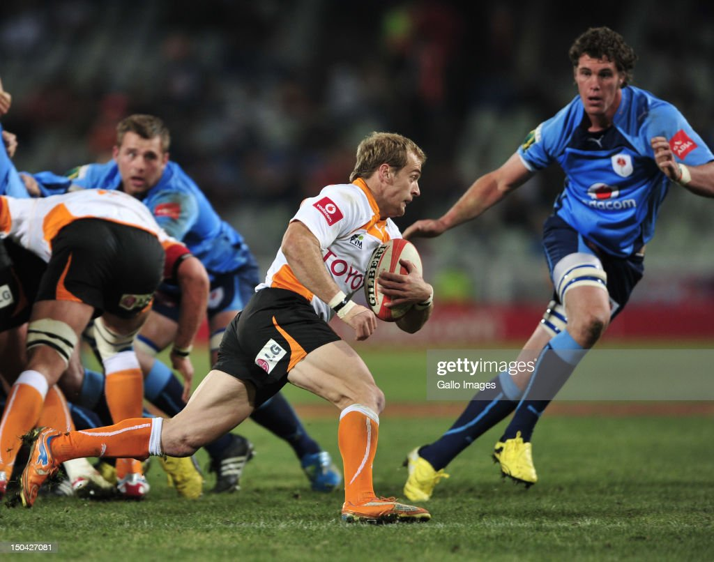 Sarel Pretorius of the Cheetahs during the Absa Currie Cup match between Toyota Free State Cheetahs and Vodacom Blue Bulls at Free State Stadium on August 17, 2012 in Bloemfontein, South Africa.
