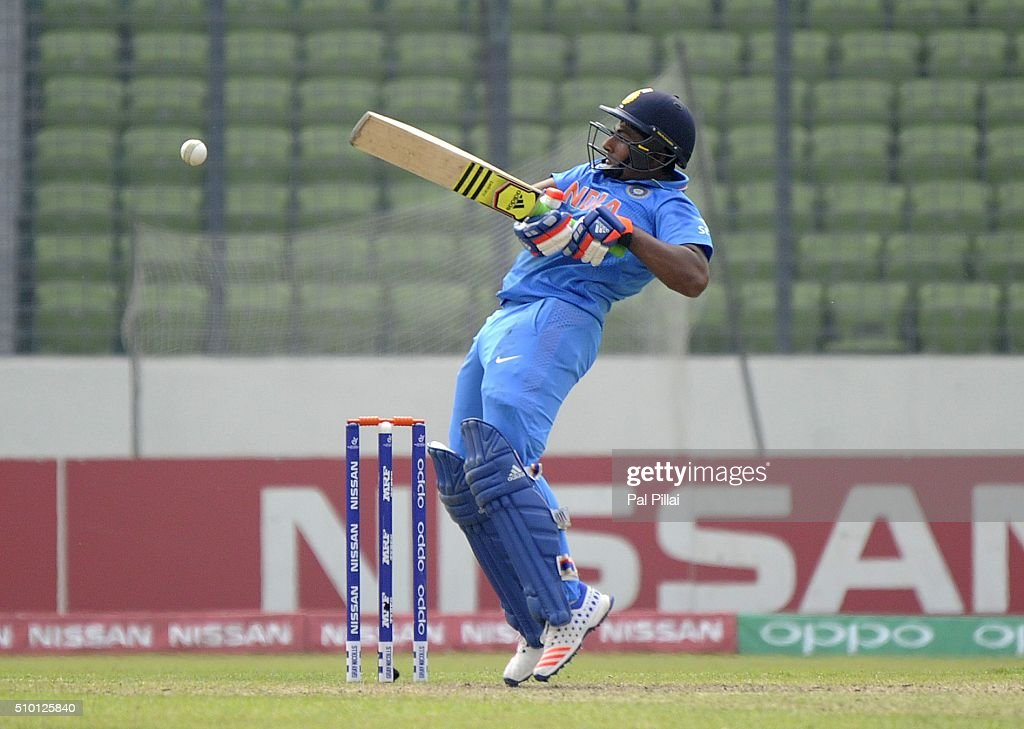 Sarfaraz Khan of India bats during the ICC U19 World Cup Final Match between India and West Indies on February 14, 2016 in Dhaka, Bangladesh.