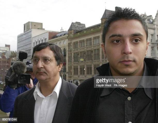 Sarfraz Najeib arrives at Leeds Town Hall with his father Mohammed where they confirmed that they would be taking civil legal action against Leeds...