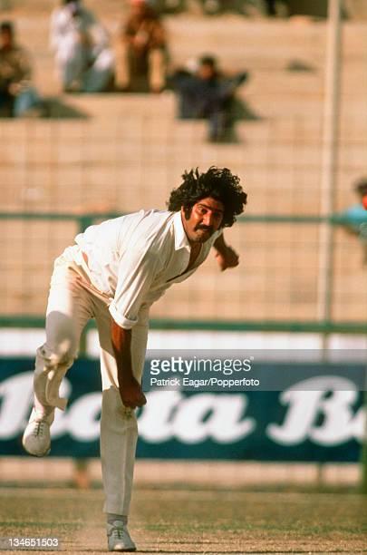 Sarfraz Nawaz bowling Pakistan v England 3rd Test Karachi Jan 197778
