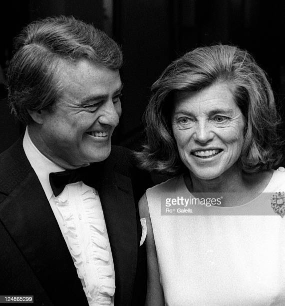 Sargent Shriver and Eunice Shriver attend Valentino Fashion Show Benefiting Special Olympics on June 7 1976 at the Pierre Hotel in New York City