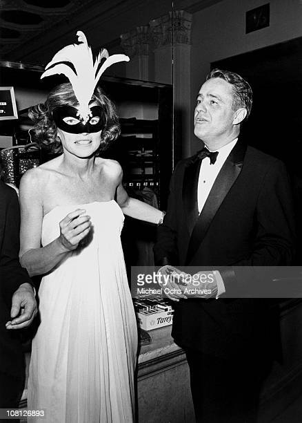 Sargent Shriver and his wife Eunice Kennedy Shriver attend Truman Capote's Black and White Ball in honour of Katharine Graham known as 'The Party of...