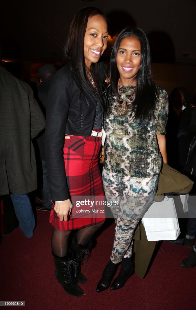 Sari Baez and Joy Warren attend Harlem's Fashion Row Presentation during Fall 2013 Mercedes-Benz Fashion Week at The Apollo Theater on February 7, 2013 in New York City.