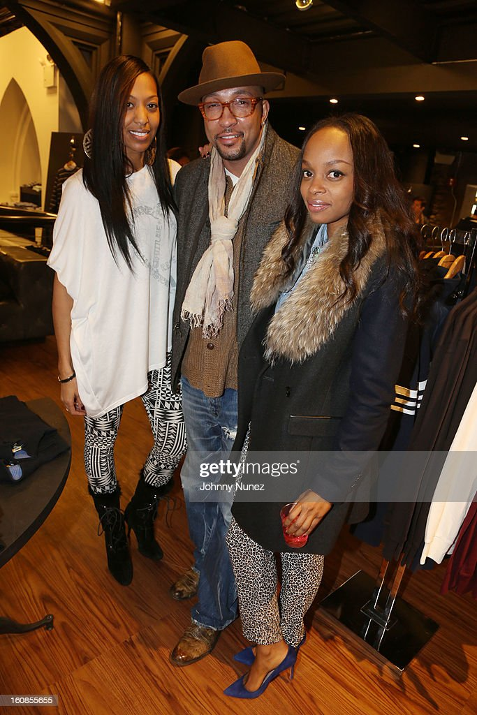 Sari Baez, Sabai Burnett and Keesha Johnson attend the Secret Circus Clothing Fashion Week Kick Off Event at the Limelight Marketplace on February 6, 2013 in New York City.