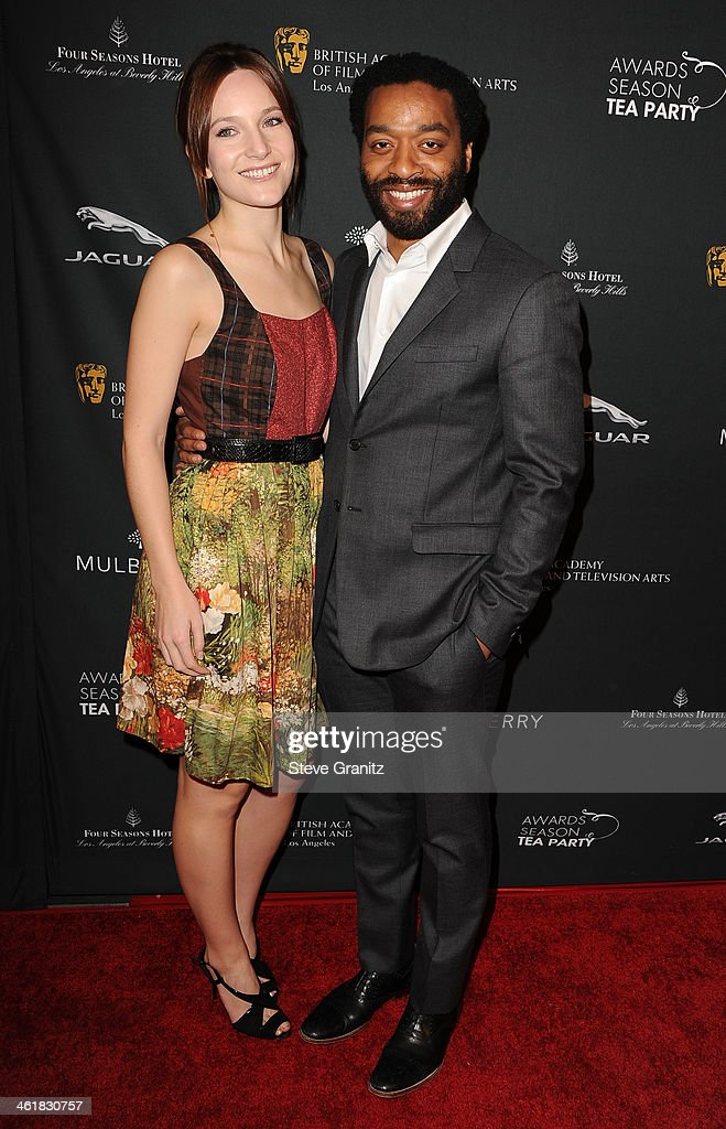 Sari Mercer and actor Chiwetel Ejiofor arrive at the BAFTA Los Angeles Awards Season Tea Party at the Four Seasons Hotel Los Angeles at Beverly Hills...