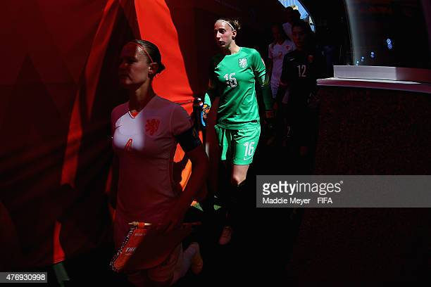 Sari Van Veenendaal of Netherlands enters the tunnel before the FIFA Women's World Cup Canada 2015 Group A Match against the China PR at Commonwealth...