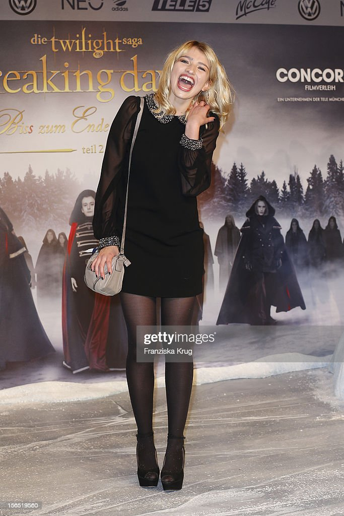 Sarina Nowak attends the 'Twilight Saga: Breaking Dawn Part 2' Germany Premiere at CineStar on November 16, 2012 in Berlin, Germany.