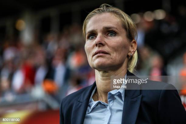 Sarina Wiegman head coach of Netherlands prior the UEFA Women's Euro 2017 Group A match between Netherlands and Denmark at Sparta Stadion on July 20...