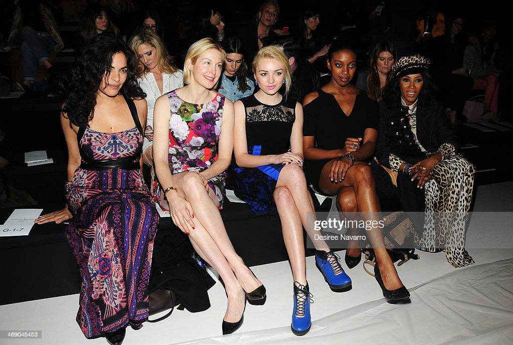 Sarita Choudhury Kelly Rutherford Peyton List Condola Rashad and June Ambrose attend the Nanette Lepore Show during MercedesBenz Fashion Week Fall...