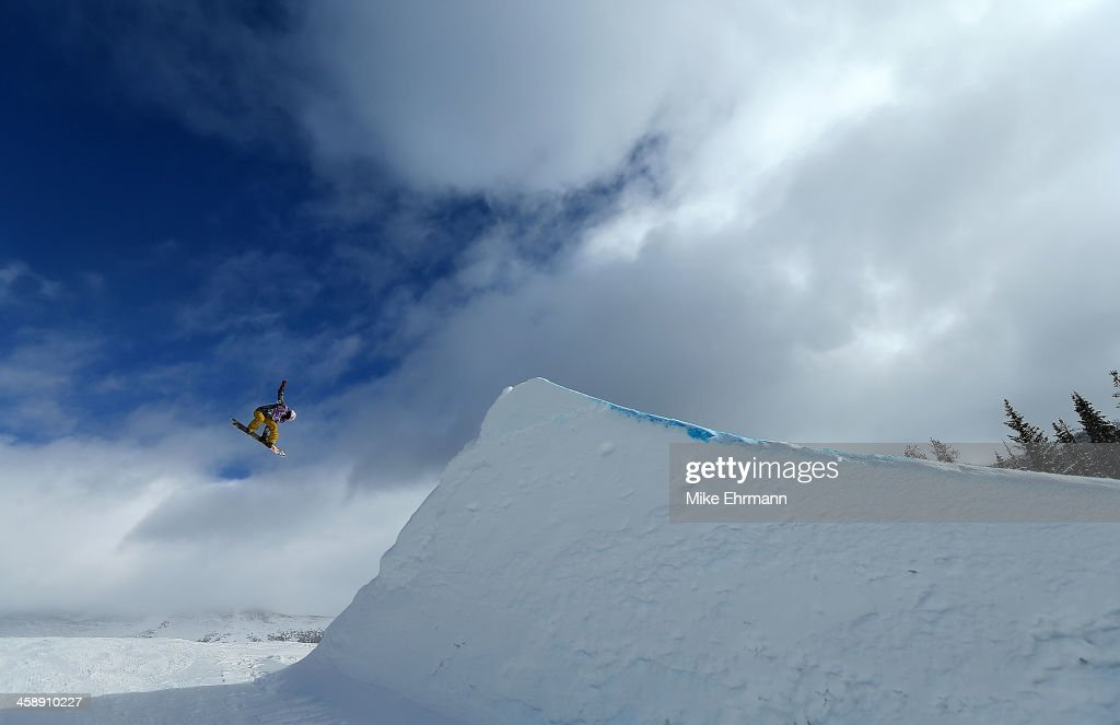 Sarka Pancochova of the Czech Republic competes during finals for the womens FIS Snowboard Slopestyle World Cup at U.S. Snowboarding and Freeskiing Grand Prix on December 22, 2013 in Copper Mountain, Colorado.