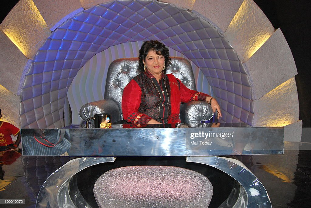 Saroj Khan on the sets of the show Chak Dhoom Dhoom in Mumbai on May 18, 2010.