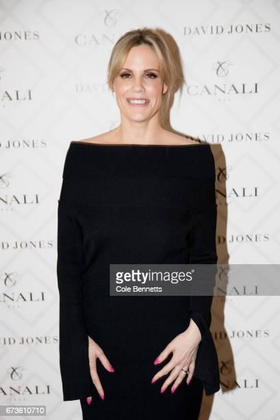 Sarrah Le Marquand arrives at the David Jones Canali Launch at Restaurant Hubert on April 27 2017 in Sydney Australia