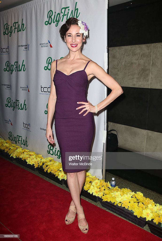 Sarrah Strimel attends the 'Big Fish' Broadway Opening Night after party at Roseland Ballroom on October 6, 2013 in New York City.