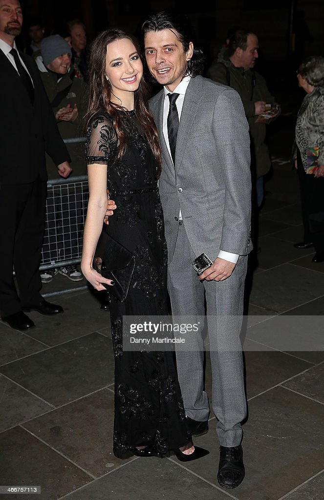 Sascha Bailey and friend attend the VIP private view of David Bailey Bailey's Stardust at National Portrait Gallery on February 3 2014 in London...