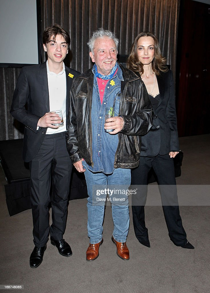 Sascha Bailey, David Bailey and <a gi-track='captionPersonalityLinkClicked' href=/galleries/search?phrase=Catherine+Bailey&family=editorial&specificpeople=242863 ng-click='$event.stopPropagation()'>Catherine Bailey</a> attend the launch of Samsung's NX Smart Camera at a charity auction with David Bailey in aid of Marie Curie Cancer Care at the Bulgari Hotel on May 14, 2013 in London, England.