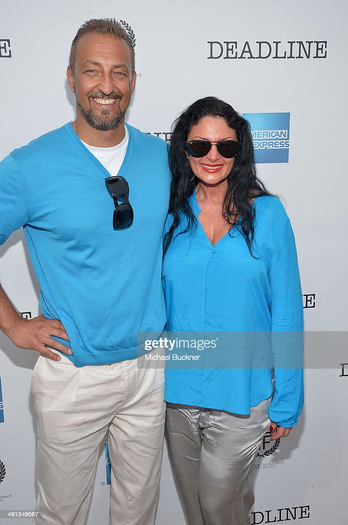 Sascha Brestel and Tiziana Brestel attend Deadline's Cocktails on the Croisette in partnership with AmericanExpress and Film Fraternity at La Gold...