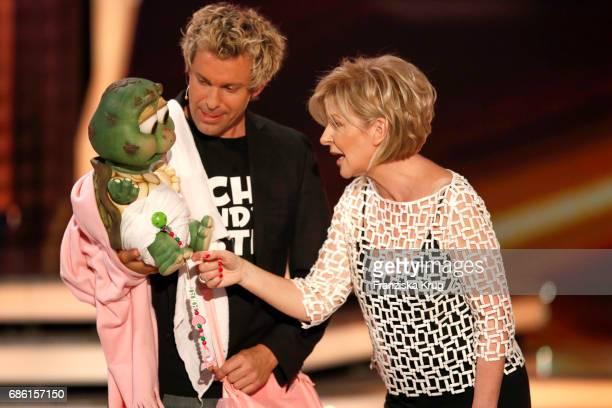 Sascha Grammel and Carmen Nebel during the tv show 'Willkommen bei Carmen Nebel' at Velodrom on May 20 2017 in Berlin Germany