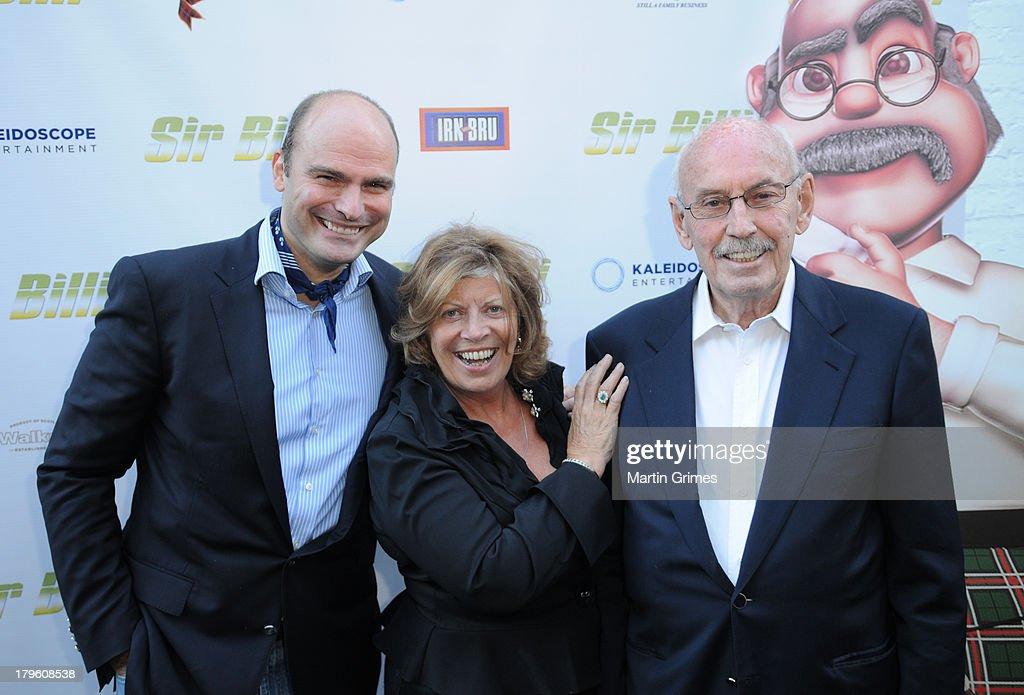 Sascha Hartmann, Larry Sullivan and John Fraser attends the 'Sir Billi' press screening at The Grosvenor Cinema on September 5, 2013 in Glasgow, Scotland.