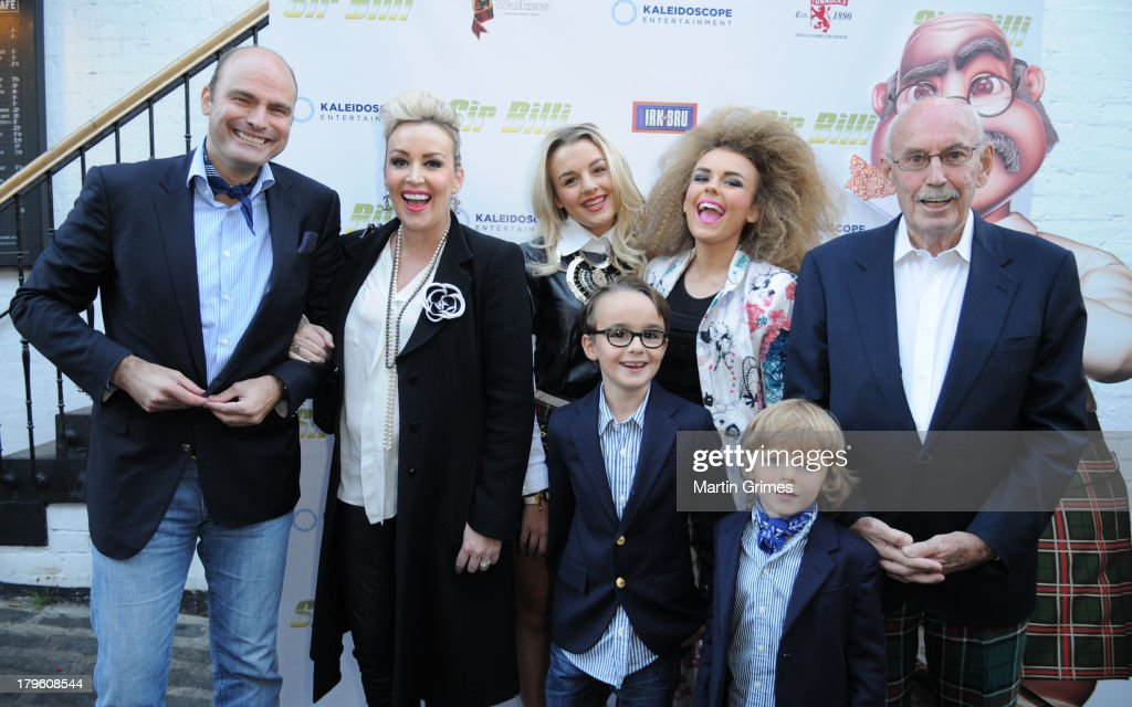 Sascha Hartmann, Tessa Hartmann, Tesssie Hartmann, John Fraser, Johnnie Hartmann and Zachary Hartmann attend the 'Sir Billi' press screening at The Grosvenor Cinema on September 5, 2013 in Glasgow, Scotland.