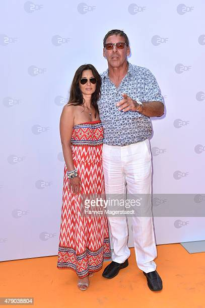 Sascha Hehn and girlfriend Gloria Krass attend the ZDF reception during the Munich Film Festival at Hugo's on June 30 2015 in Munich Germany