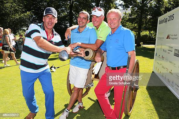 Sascha Hehn Ricco Gross Fritz Fischer Peter Angerer during the Kaiser Cup 2015 golfcup and gala on July 11 2015 in Bad Griesbach near Passau Germany