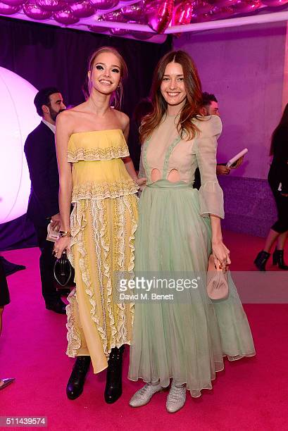 Sascha Luss and Lyza Onysko at The Naked Heart Foundation's Fabulous Fund Fair in London at Old Billingsgate Market on February 20 2016 in London...