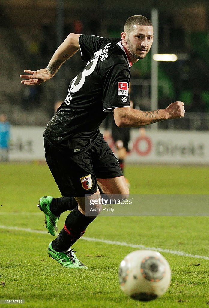 Sascha Moelders of Augsburg in action during the friendly match between Greuther Fuerth and FC Augsburg at TrolliArena on January 18 2014 in Fuerth...