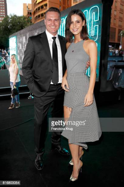 Sascha Moeri ans Lena MeyerLandrut attend the 'Atomic Blonde' world premiere at Stage Theater on July 17 2017 in Berlin Germany
