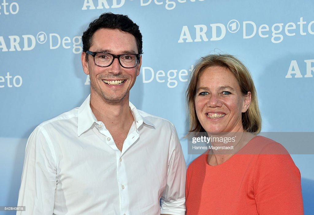 Sascha Schwingel and Christine Strobl during the ARD Degeto Get Together during the Munich Film Festival 2016 at Kaisergarten on June 24, 2016 in Munich, Germany.