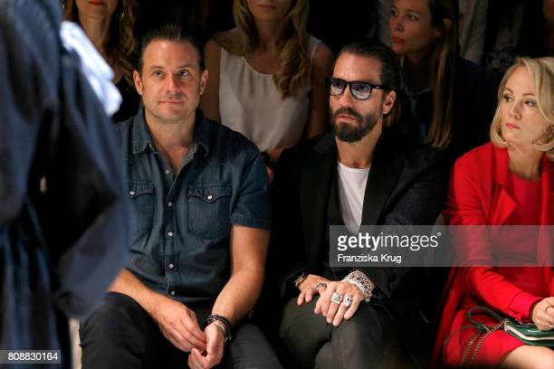 Sascha Vollmer and Alec Voelkel attend the Marc Cain Fashion Show Spring/Summer 2018 at ewerk on July 4 2017 in Berlin Germany