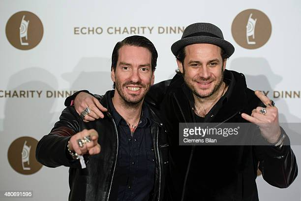 Sascha Vollmer and Alec Voelkel of the Band Boss Hoss attend the Echo Award 2014 Charity Dinner on March 26 2014 in Berlin Germany