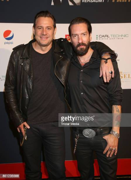 Sascha Vollmer and Alec Voelkel of the band BossHoss during the 'Nena Nichts versaeumt' After Show Party at Insel on September 21 2017 in Hamburg...