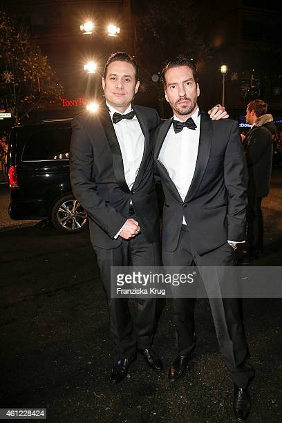 Sascha Vollmer and Alec Voelkel of the Boss Hoss arrive at the Bambi Awards 2014 on November 13 2014 in Berlin Germany
