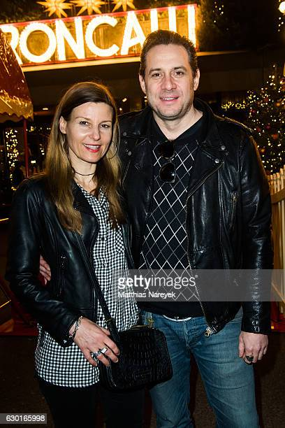 Sascha Vollmer and his girlfriend Jenny Alec attend the 13th Roncalli Christmas at Tempodrom on December 17 2016 in Berlin Germany