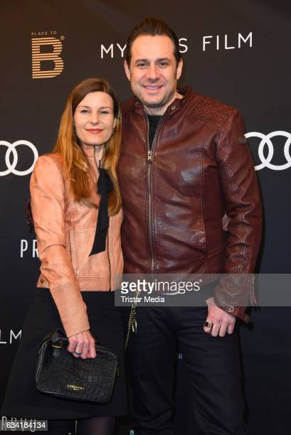 Sascha Vollmer and his girlfriend Jenny attend the PLACE TO B PreBerlinale Dinner at Provocateur on February 7 2017 in Berlin Germany