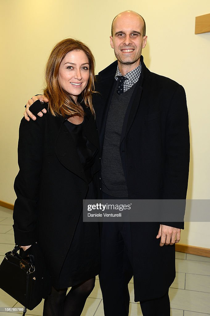 Sasha Alexander and Edoardo Ponti attend Day 3 of the 2012 Capri Hollywood Film Festival on December 28, 2012 in Capri, Italy.