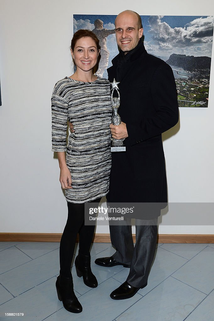 Sasha Alexander and Edoardo Ponti attend Day 4 of the 2012 Capri Hollywood Film Festival on December 29, 2012 in Capri, Italy.