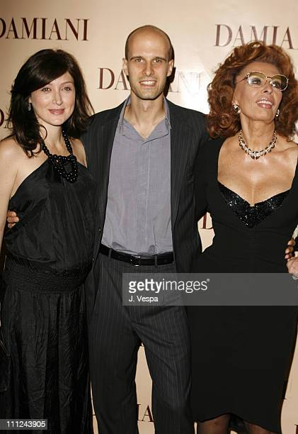 Sasha Alexander Edoardo Ponti and Sophia Loren during Damiani Launches The 'Sophia Loren' Collection at Four Seasons Hotel in Beverly Hills CA United...