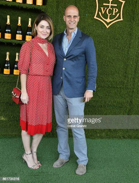 Sasha Alexander Edoardo Ponti arrives at the 8th Annual Veuve Clicquot Polo Classic at Will Rogers State Historic Park on October 14 2017 in Pacific...