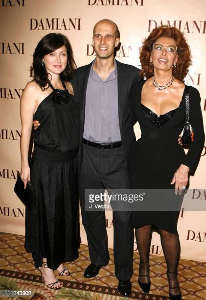 Sasha Alexander Edorado Ponti and Sophia Loren during Damiani Launches The 'Sophia Loren' Collection at Four Seasons Hotel in Beverly Hills CA United...