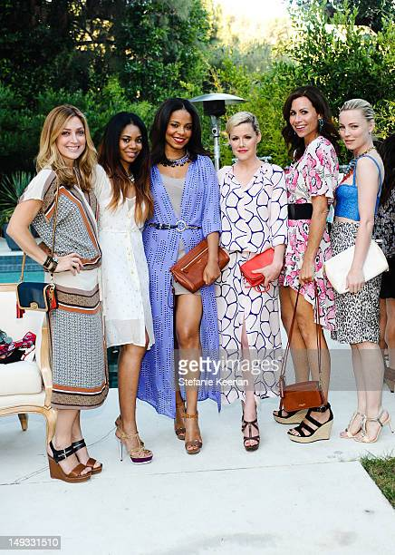 Sasha Alexander Regina Hall Sanaa Lathan Kathleen Robertson Minnie Driver and Melissa George attend A Dannijo And Tucker Tea on July 26 2012 in...