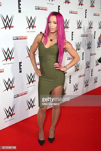 Sasha Banks arrives for WWE RAW at 02 Brooklyn Bowl on April 18 2016 in London England
