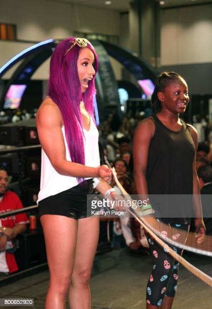 Sasha Banks at day one of CocaCola Music Studio during hte 2017 BET Experience at Los Angeles Convention Center on June 24 2017 in Los Angeles...