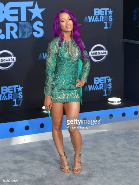 Sasha Banks attends the 2017 BET Awards at Microsoft Theater on June 25 2017 in Los Angeles California